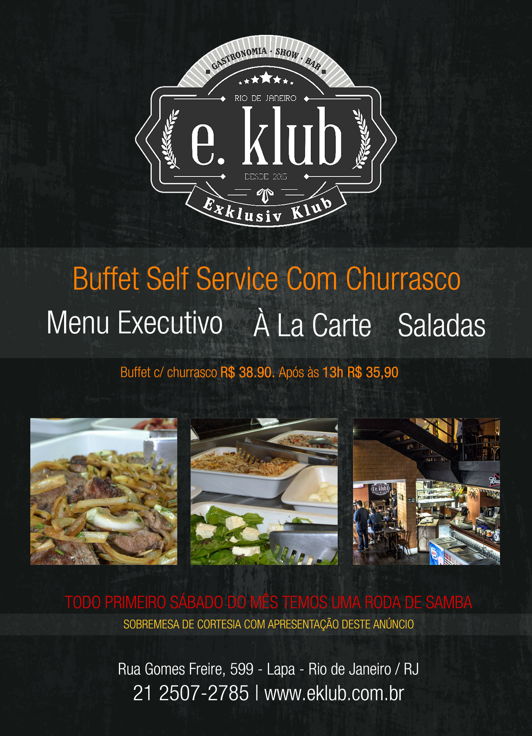 Exklusiv Klub - Folder de Buffet